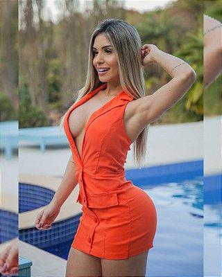 Macaquinho Decote, frente estilo vestidinho