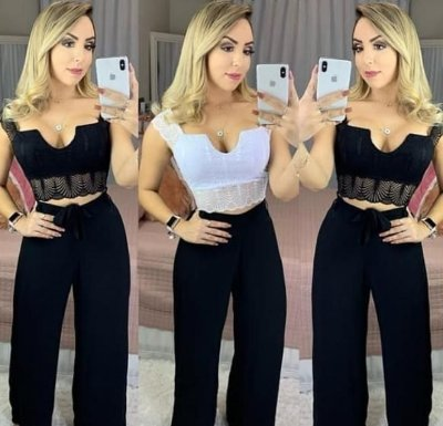 Top Cropped Renda Luxo