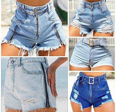 Combo Grade 5 Peças - Do 36 ao 42, Shorts Jeans Moda Total, Vendas  No Atacado e Varejo