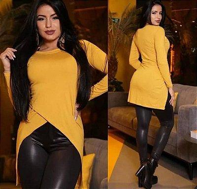 Blusa Em Viscolycra, Modelo Mullet Novo, Moda No Atacado