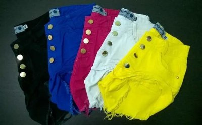 Shorts curto Hot Pants destroyed cós alto COLLOR.