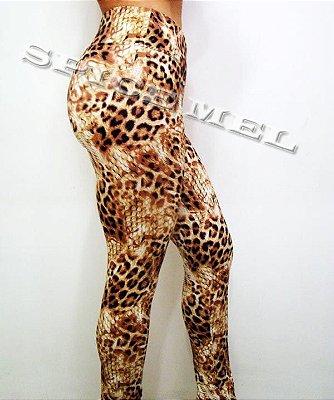 Calça Legging De Suplex, Estampa Onça 3