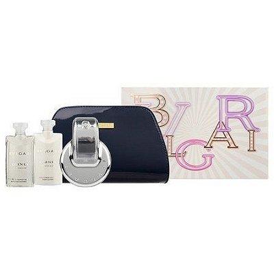 Kit Omnia Crystalline Eau de Toilette BVLGARI - Perfume Feminino 65 ML + 2 body loção + Necessaire