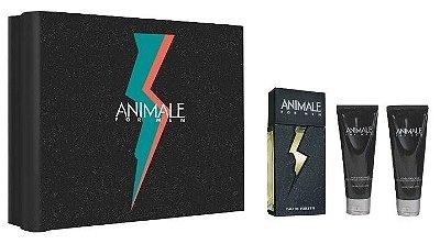 Kit Animale For Men Edt 100ml + Pós barba 100ml + Gel de banho 100ml