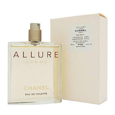 Tester Allure Homme Eau de Toilette Chanel - Perfume Masculino 100 ml