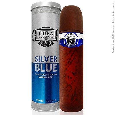 Cuba Silver Blue Eau de Toilette Perfume Masculino 100 ml