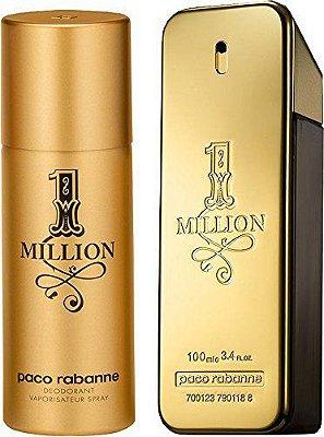 Kit 1 Million Paco Rabanne - Perfume EDT  100 ml + Desodorante 150 ml