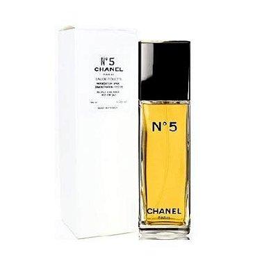 Tester Chanel  Nº 5 Eau de Toilette Chanel - Perfume Feminino  100ml