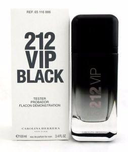Tester 212 Vip Black Carolina Herrera Eau De Parfum - Perfume Masculino 100 ML