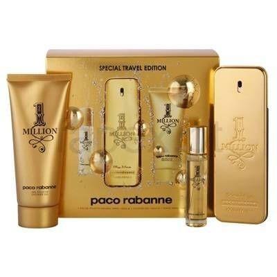 Kit  One Million Eau de Toilette Paco Rabanne - Perfume Masculino 100 ML + Gel de Banho 75 ML + Miniatura 10 ML