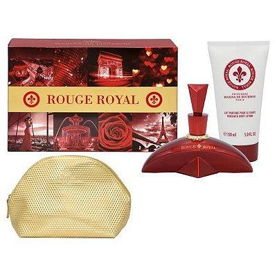 Kit Rouge Royal Marina de Bourbon Feminino - Eau de Parfum 100ml + Loção Corporal 150ml + Nécessaire