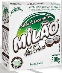 LAVA ROUPA Pó 500 gramas SABÃO CÔCO MILÃO - CAIXA com 12 UND.