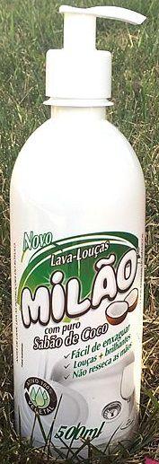 LAVA LOUÇA LÍQUIDO CÔCO MILÃO 500 ml., CAIXA com 12 UND.