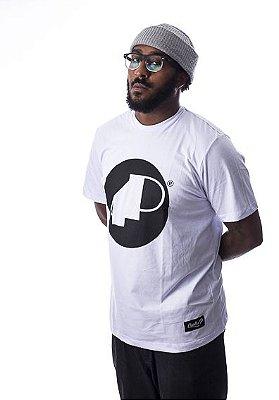 Camiseta Branca 4P Clássica com Logo Preto