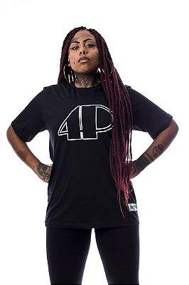 Camiseta Preta 4P Logo Traços