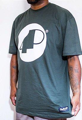 Camiseta Verde 4P Clássica com Logo Branco