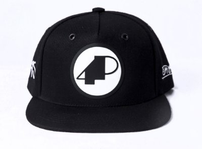 Boné Preto Logo 4P Preto