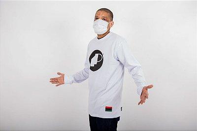 Camiseta Branca Manga Longa Classica