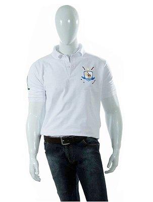 Camisa Polo Style modelo Básica Branca Brasão