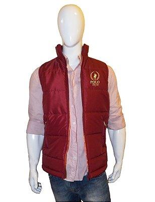 Colete Polo Style Masculino Bordo/Laranja Logo