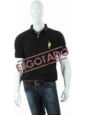 Camisa Polo Style modelo Básica Preta Horse