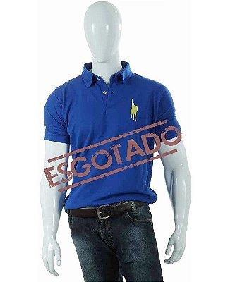 Camisa Polo Style modelo Básica Azul Royal