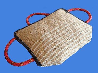 Travesseiro de Mordida com 3 Alças - Tecido de juta
