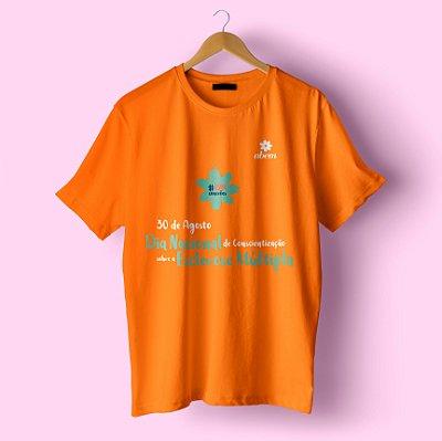 Camiseta laranja mês conscientização da EM
