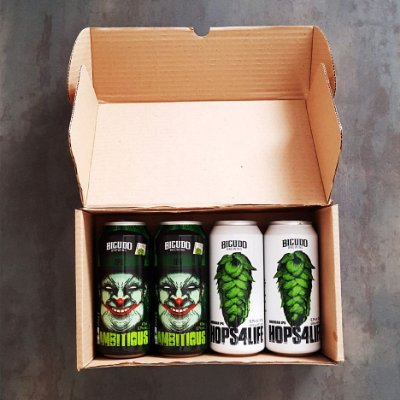 4-PACK - 2 HOPS4LIFE + 2 HAZY4AMBITIOUS - LATA 473ML