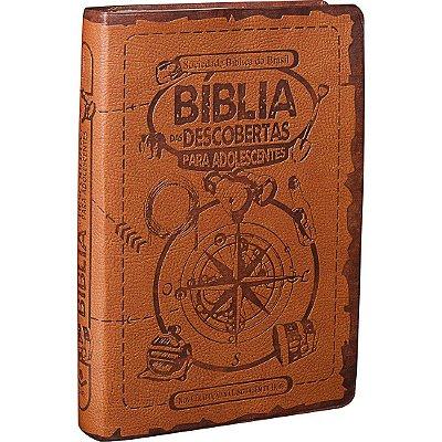 Bíblia das Descobertas Para Adolescentes - Capa Marrom