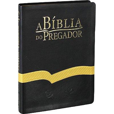 A Bíblia de Estudo do Pregador - Grande - Preto Dourado - ARA - SBB