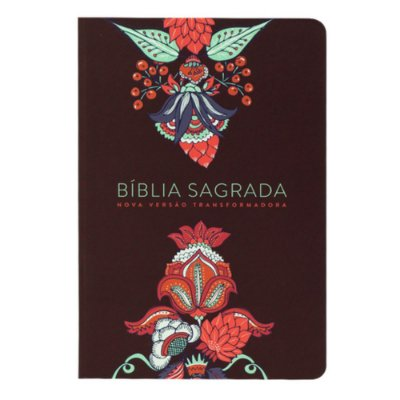 BÍBLIA NVT - INDIAN FLOWERS VINHO - SOFT TOUCH - LETRA GRANDE