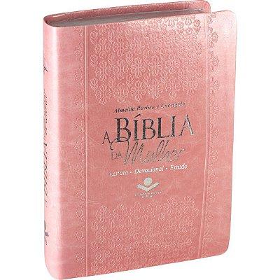 A BÍBLIA DA MULHER - LEITURA - DEVOCIONAL - ESTUDO - ARC - ROSA CLARO - SBB