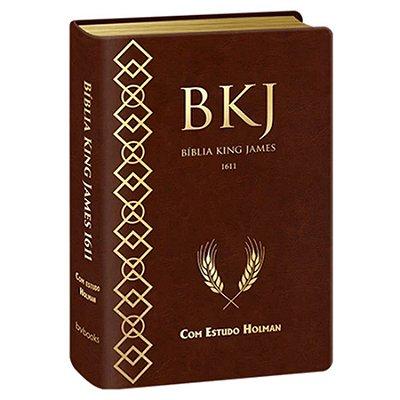Biblia King James 1611 Com Estudo Holman - Marrom - BvBooks