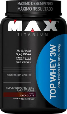 TOP WHEY 3W MAX TITANIUM 900G (POTE) - CHOCOLATE