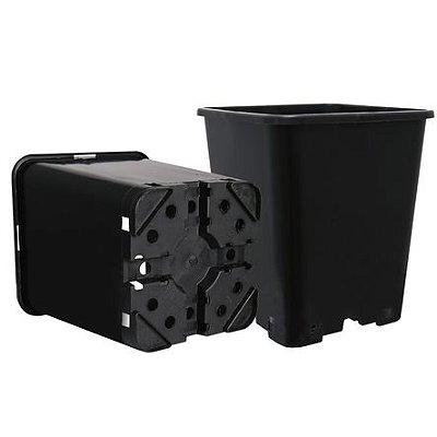 """Vaso Profissional Quadrado Alta Drenagem GROWPRO """"LST"""" com Furação para Amarras opção de 7L e 11L"""