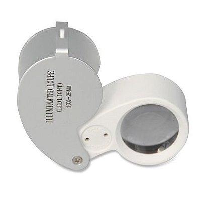 Lupa 40X com Iluminação LED para Detecção de Pragas e Ponto de Colheita