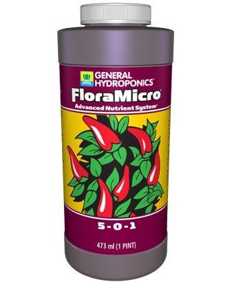 FloraMicro Fertlilizante Mineral Misto 5-0-1 General Hydroponics - opção de 946ml e 3,79L