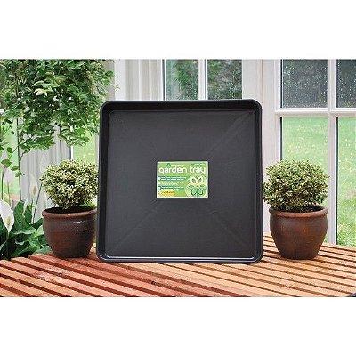 Bandeja de Deságue Plástico Preto - Quadrada 59x59X7cm