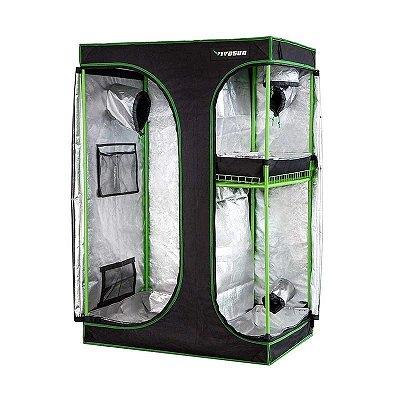 Estufa Agrícola Cultivo Indoor 2-em-1 VIVOSUN 90x60x135cm com Revestimento 600D e Mylar DIAMOND 98% de Reflexão