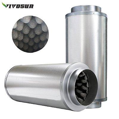 """Silenciador de Ruídos VIVOSUN opção de 4' 100mm, 6"""" 150mm e 8"""" 200mm"""