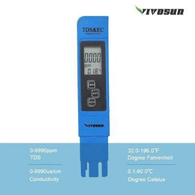 3-IN-1 TDS EC & TEMPERATURE METER