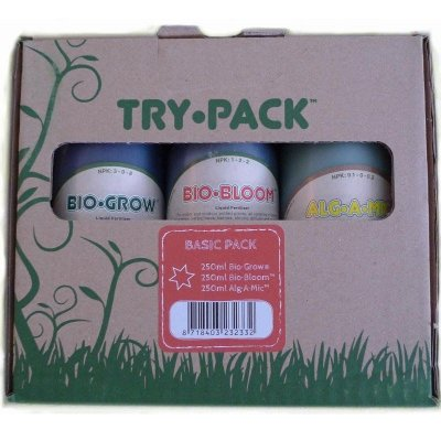 Try Pack Basic Biobizz 250ml - Kit Composto 3 Partes