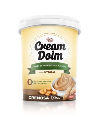 Pasta de Amendoim Integral Cream Doim - 100% Natural