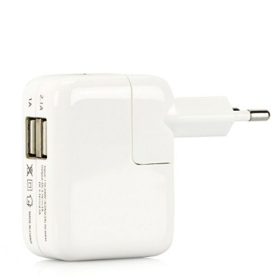 CARREGADOR PARA IPHONE, IPAD E IPOD COM 2 PORTAS USB