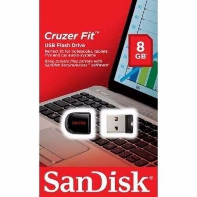 KIT 10 PEN DRIVE 8GB CRUZER FIT - SANDISK NANO LACRADO