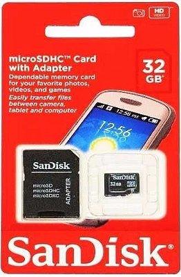 KIT DE 10 CARTÃOES DE MEMÓRIA SANDISK MICRO SDHC 32GB
