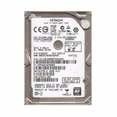 HD INTERNO HITACHI 1TB PARA NOTEBOOK 5.400RPM