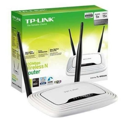 ROTEADOR TP-LINK WIRELESS TL-WR841 300MBPS-2 ANTENAS 5 DBI