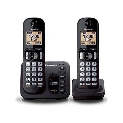 TELEFONE PANASONIC KX-TGC222 COM SEC. ELETRÔNICA + 1 RAMAL